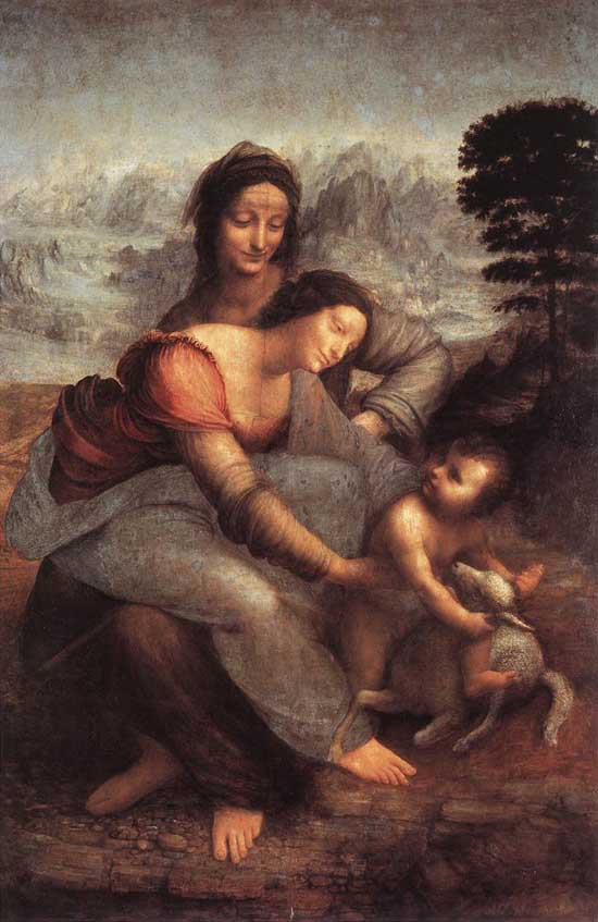 Leonardo-Virgin-Child-Saint-Anne
