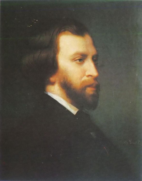 A portrait of Alfred de Musset in 1854, three years before his death