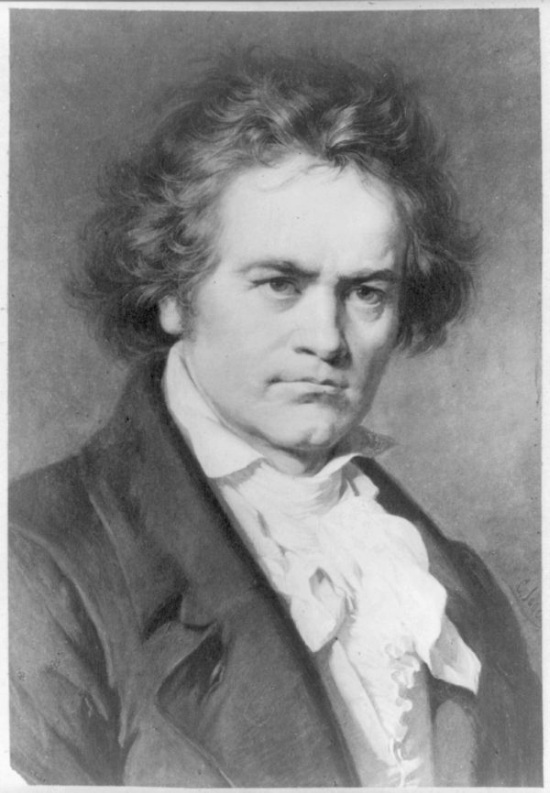 Perhaps the best known image of Beethoven