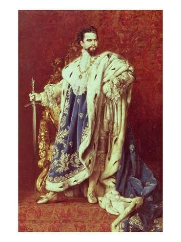 Ludwig II of Bavaria in all his finery