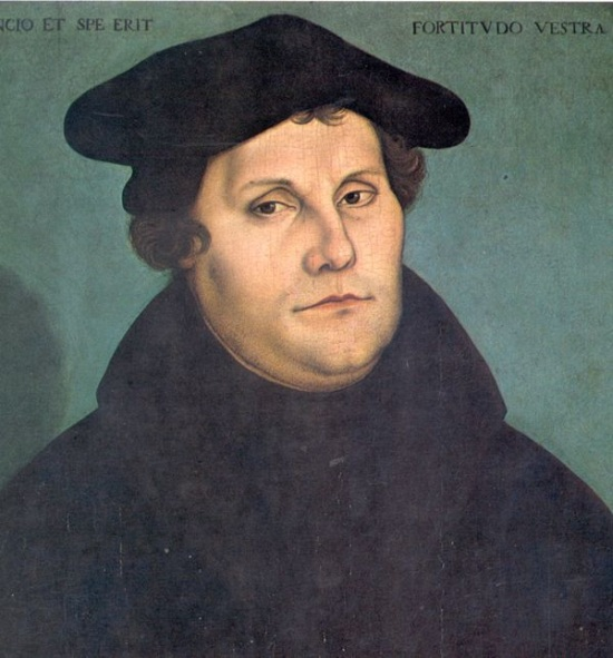 Martin Luther painted by Lucas Cranach 1529
