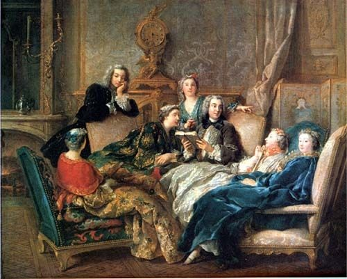 A reading of Moli�re, Jean Fran�ois de Troy, about 1728