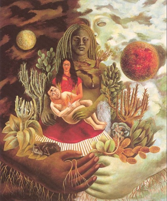 The Love Embrace of the Universe, the Earth (Mexico), Diego, Me and Senor Xolotl - Frida Kahlo