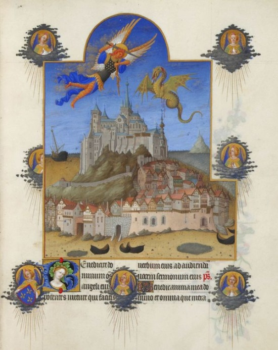 The Archangel Saint Michael in action in The Book of Hours
