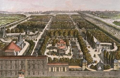 A painting of Vauxhall Gardens in 1751, when it served as the equivalent of today's theme park.