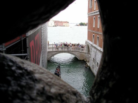 A view from the Bridge of Sighs in Venice, apparently the last view a convict would have as they entered the Leads Prison. Casanova became famous as the only man to escape from it.