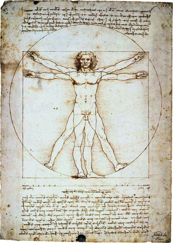 Vitruvian Man by Da Vinci (around 1490)